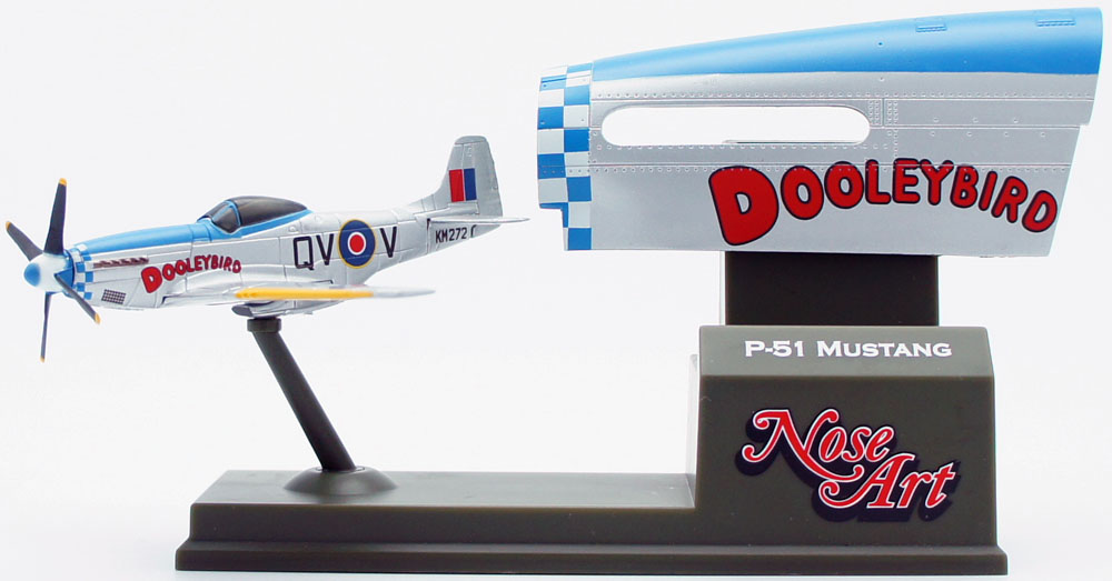 P-51 Mustang 'Dooley Bird' RAF. Model wingspan 102mm