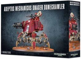 Included with this 119-component multi-part plastic kit, making one Onager Dunecrawler, is a small Adeptus Mechanicus transfer sheet and a 130mm round base.