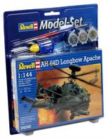 Revell 1/144 AH-64D Longbow Apache Model Set 64046Length 105mm	Number of Parts 79		Rotor Diameter 101mmComes with glue and paints to assemble and complete the model.