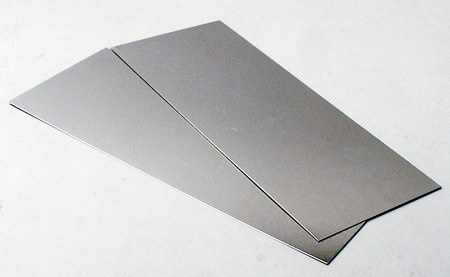 <p>0.032in/32 thou. (0.8mm) thick aluminium sheet measuring 4in x 10in / 101mm x 254mm. Pack of 2 sheets.</p>