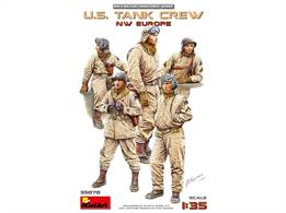 Mini Art 35070 US Tank Crew N.W Europe 5 Unpainted Figures