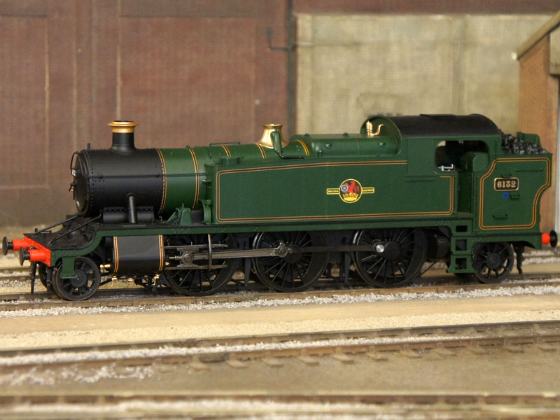 Heljan GWR 5101/61xx Class 2-6-2T Large Prairie BR Green Lined Late Crest 6132 81C O Gauge 6104
