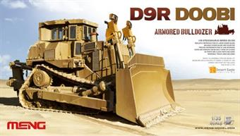 Meng SS-002 1/35 Scale D9R Doobi Armoured Bulldozer Kit Dimensions - Length 247mm Width 126mm.Glue and paints are required