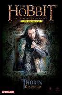 Dragon 38329 a 1/9th Scale plastic kit film the Film by MGM - The Hobbit: The Desolation of Smaug Thorin Oakenshield.This scintillating new line from Dragon features movie blockbuster characters in 1/9 scale. Each stunning character is faithfully reproduced in model kit form, allowing collectors to assemble their figures individually. Each of the world-famous characters in the series is the end product of exhaustive CAD design, and the heroes are made with an eye to perfect accuracy and authenticity. Furthermore, the model figures are separated into as few parts as possible to ensure they're extremely easy to assemble. Indeed, within about an hour – or at the most an evening – collectors can complete assembly of their action hero in a suitably dramatic pose.Glue and paints are required to assemble and complete the model (not included).