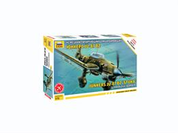 Zvezda 7306 1/72nd Ju-87B2 Stuka Dive Bomber WW2 Plastic KitNumber of Parts 70    Length 150mm