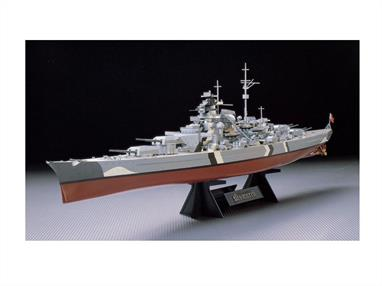 Tamiya brings you 78013 this superb 1/350 scale plastic kit of the German Battleship BismarckModel Length 717mm