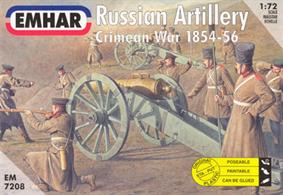 Emhar 1/72 Russian Artillery Crimean War 1854-56 EM7208Box contains 27 unpainted figures and 3 cannonsPaints are required to complete