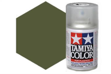 Tamiya AS9 Dark Green RAF Synthetic Lacquer Spray Paint 100ml AS-9Tamiya AS Spray paint, much like�the TS Sprays, are meant for plastic models. These spray paints are specially developed for finishing aircraft models. Each color is formulated to provide the authentic tone to 1/32 and 1/48 scale model aircraft. now, the subtle shades can be easily obtained on your models by simple spraying. Each can contains 100ml of synthetic lacquer paint.