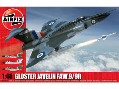 Airfix A12007 1/48th Gloster Javelin FAW9/9R Aircraft KitNumber of Parts 222   Length 357mm   Wingspan 330mm