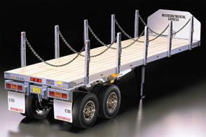 Tamiya 1/14 Flatbed Semi Trailer for Tamiya Radio Control Trucks 56306Glue and paints are required