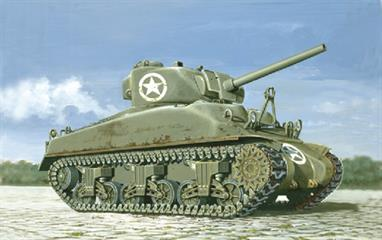Italeri 7003 1/72 Scale  US Army M4 Sherman Tank -  WW2Dimensions - Length 148mm.The kit includes flexible tracks, decals and full instructions.Glue and paints are required to assemble and complete the model (not included)