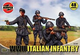 This set includes a variety of the weapons used by the Italian Army in WWII. Set includes 48 figures.
