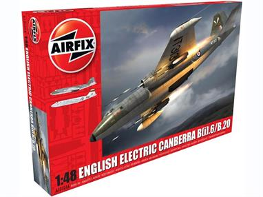 Airfix A10101A 1/48th English Electric Canberra B.2/ B.20 Aircraft KitNumber of parts 182    Length 416mm   Wingspan 406mm