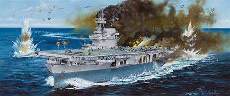 Merit Models brings you 63501 a 1/350th scale plastic kit of the American world War 2 Famous Carrier USS Yorktown.Glue and paints are required