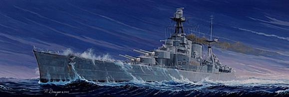 Trumpeter 1/350 scale plastic kit of H.M.S Hood British WW2 Battlecruiser 1941 05302With 533 parts it is possible to achievable a really excellent model and its impressive with a length of 750mm.Glue and paints are required