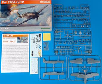 82145 ProfiPACK edition kit of German WWII fighter aircraft Focke-Wulf Fw 190A-8/R2 in 1/48 scale