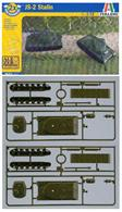 Developed for wargamers who require robust, quick assembly models to build up a tank squadron, this kit builds two Russian JS-2 Stalin WW2 heavy tanks. Each model consists of just 11 parts.Part of the 'Fast Assembly Kits' range, these kits have been designed especially for simulation games, the fast assembly of these models are made up of a few pieces. Despite their practical characteristics and simplicity of assembly, they are still precise and well detailed.Kit contains two models, model length 123mm.