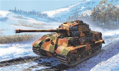 Italeri 7004 1/72 Scale German King Tiger Tank - WW2Dimensions -  Length 112mm.Decals and full instructions are included.Glue and paints are required