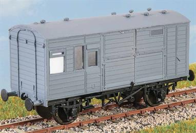 30 of these horse boxes (diagram 5) were built by the LNER in 1938, mainly to carry racehorses to meetings throughout Britain. Many lasted into the early 1960s. These finely moulded plastic wagon kits come complete with pin point axle wheels and bearings. Glue and paint will be required, along with appropriate transfers. Additional parts to enable the vehicle to be modelled incorporating modifications made to the prototypes during their working life are included where appropriate.