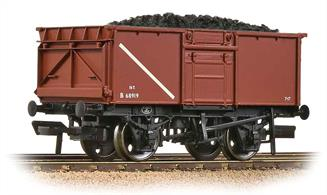 A very good model of the standard BR 16-ton steel mineral wagon. Over 200,000 of these wagons were built to replace wooden wagons used for coal and mineral traffic. This model represents a vehicle rebuilt without the top flap over the side door.