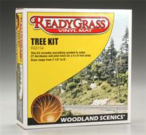 Woodland Scenics ReadyGrass 27 Tree Kit RG5154Designed for use with the Woodland Scenic's ReadyGrass vinyl grass mats this kit supplies materials to construct 27 deciduous and pine trees ranging from 2½ to 6in in height. Pre-coloured tree armatures, foliage and adhesive are all included.
