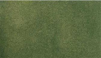 Readygrass mouldable vinyl mat green grass project sheet. This small sheet is designed for practice work, small dioramas or to cover small areas like hills in a larger lanscape. The fresh green field grass surface can be scraped away to add roadways and a range of project kits are available to provide landscaping materials.Project sheet 317 x 358mm 12½ x 14in