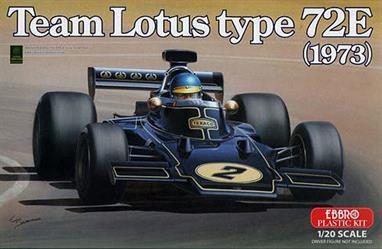 EBBRO 1/20 Lotus Type 72E 1973 F1 Car in Black & Gold LiveryGlue and paints are required to assemble and complete the model (not included).Click on the More link to view related products.
