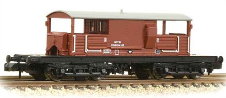 A detailed model of the Southern Railways' bogie goods brake vans. These vans were introduced to ensure the guard had a smooth-riding vehicle suitable for travel at the higher speeds of express goods and parcels trains. The commodious accomodations and enclosed verandahs were also appreciated by the engineers, who made good use of these vans as riding, messing and equipment/tool carriers until the 1990s.Several are now preserved and used to offer brake van rides during heritage railway gala days.This model is painted in the BR standard goods bauxite livery.Eras 4-7 1948-1982