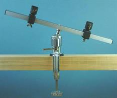 An adjustable miulti-pose bench clamp, suitable for holding ship keels.