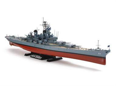 Tamiya 1/350 USS New Jersey Battleship Kit with detail parts 78028Tamiya's first plastic kit of the BB-52 New Jersey was always a good one but this version is enhenced with finely detailed parts to produce an even better result and more realistic scale appearance.