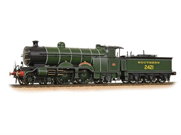 A highly detailed model of the London, Brighton and South Coast Railway H2 class 4-4-2 Atlantic type express passenger locomotive finished as 2421 South Foreland in Southern Railway green livery.The H2 class was a continuation of the Marsh H1 class by Billinton, incorporating a superheated boiler. These were the most powerful of the LB&SCR express passenger engines used on the most heavily loaded and Pullman express trains like the Brighton Limited, and Southern Belle.In the 1920s the class was displaced by newer locomotives and took over many of the boat train services connecting with the Newhaven-Dieppe cross-channel service, being retained on these services into the 1950s. The last survivor was withdrawn in April 1958.Dimensions - Length 264mm. Era 3.DCC and Sound Ready, 21 pin decoder required for DCC operation, sound decoder and speaker required for sound operation.
