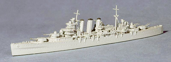 Navis Neptun 1/1250 HMS Sussex Heavy Cruiser 1942 1133