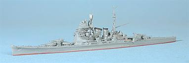 A 1/1250 scale metal model of of the Japanese heavy cruiser, Chokai, Admiral Tanaka's famous flagship.
