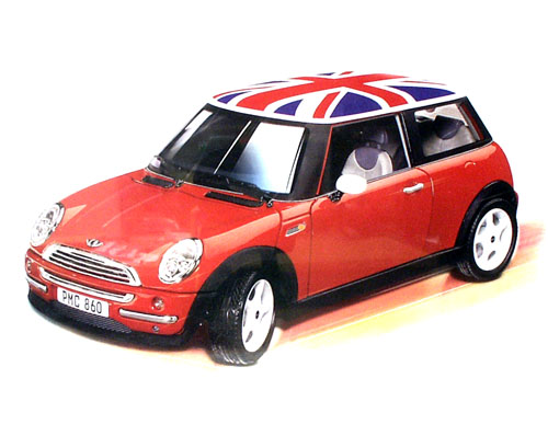 Burago BMW Mini Cooper Union Jack (Metal Kit) 1/18 7079