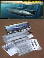 Merit Models 1/35 63504 British HMS X-Craft Submarine KitL: 448.5mm, Beam: 77.2mm, Total Parts: 130+, Display stand & name plate included. **Easy Model 1/72 Spitfire is shown for size comparison!Glue and paints are required