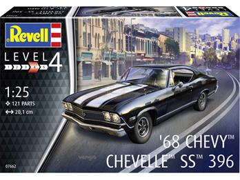 Revell 07662 1968 Chevy Chevelle SS396 Muscle Car Kit 1/25th