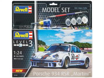 Revell 67685 Porsche 934 RSR Martini Model Set