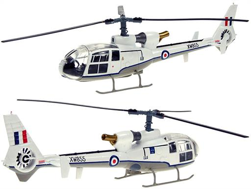 Aviation AV7224001 Westland Gazelle HCC4 XW855 Helicopter Model 1/72