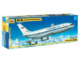 Zvezda 7001 1/144th Ilyushin Civil Airliner kit Number of Parts 74   Length 418mm