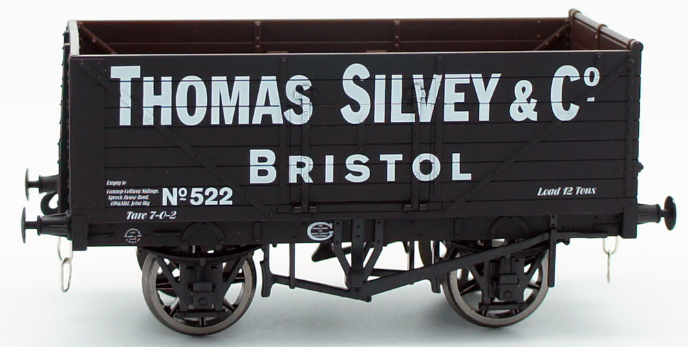 Dapol O Gauge Thomas Silvey & Co, Bristol 7 Plank Open Wagon Antics Limited Edition ANTSPEC3