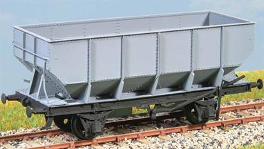13,645 of these wagons were built. Features the unique LNER brake gear. Represents the batch of 409 built by Hurst Nelson in 1936. Examples lasted into the 1970s. These finely moulded plastic wagon kits come complete with pin point axle wheels and bearings.Featuring a detailed rivetted body and distinctive high-level brake lever this kit represents a batch built in 1936. Following batches for the LNER and the early batches of the standard BR-built wagons retained many of these features, the raised brake levers being particularly noticable. Around 13,600 wagons were built to this pattern, serving alongside the later BR built examples with the frame-level Morton brake levers (kits PC77 & 78) well into the 1970s. The commonality between these kits for genarally similar wagons also allows for cross-kitting to create models of even more variations.