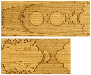 Tamiya 1/350 Yamato Deck Sheet 12645Wood decking sheet detailing pack for Tamiya Yamato model kit 78025.