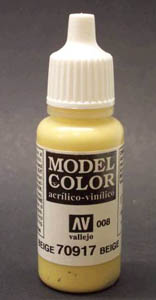 Vallejo  Model Color Matt Beige Acrylic Paint 17ml 70917