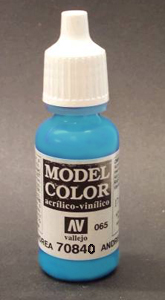 Vallejo  Model Color Matt Light Turquoise Acrylic Paint 17ml 70840