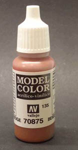 Vallejo  Model Color Matt Beige Brown Acrylic Paint 17ml 70875