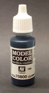 Vallejo  Model Color Metallic Gunmetal Blue Acrylic Paint 17ml 70800