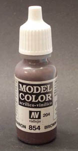 Vallejo Model Color Brown Glaze Acrylic Paint 17ml  70854