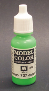Vallejo Model Color Fluorescent Green Acrylic Paint 17ml  70737