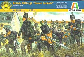 Italeri 1/72 British 95th Rgt Green Jackets Napoleonic Wars Plastic Figures 6083Contains 48 figuresPaints are required to complete the figures (not included)