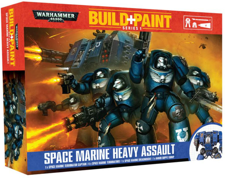 Warhammer 40000 Space Marine Heavy Assault Build & Paint Series 1